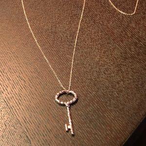 Rose Gold Regal Key Necklace